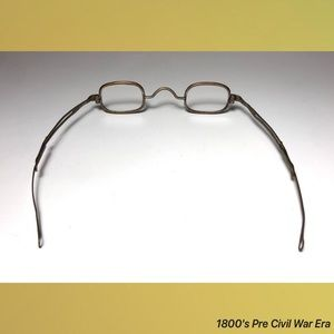 Hallmarked Accessories - 1800's Pre Civil War Era Antique Reading Glasses